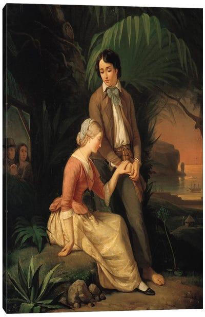 Paul and Virginie  Canvas Art Print