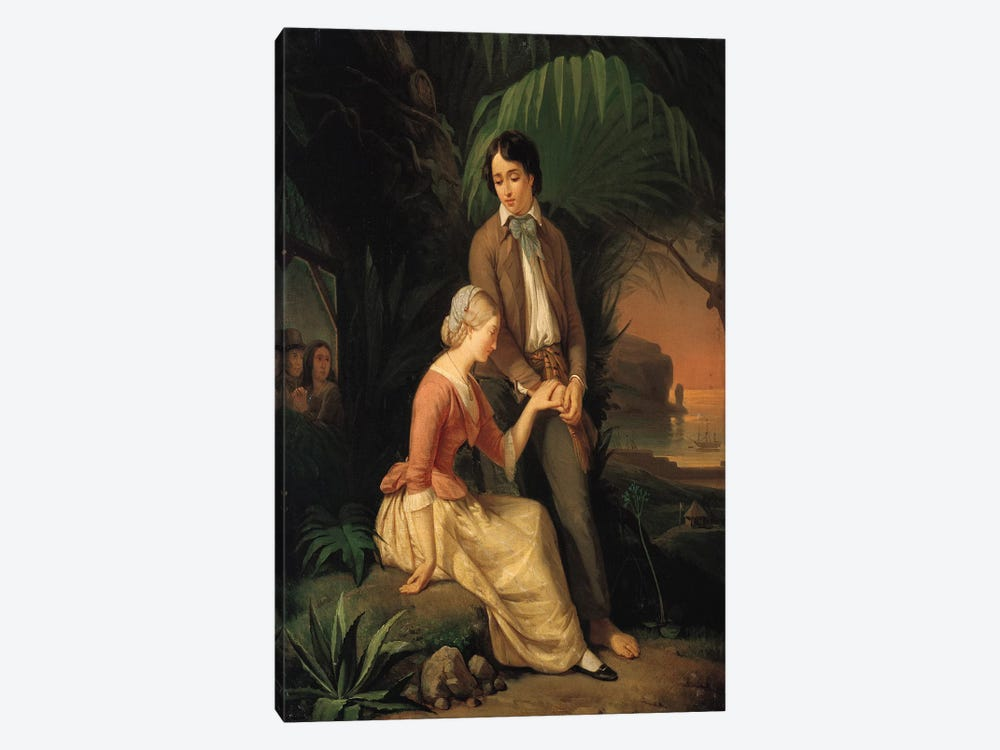 Paul and Virginie  by French School 1-piece Canvas Artwork