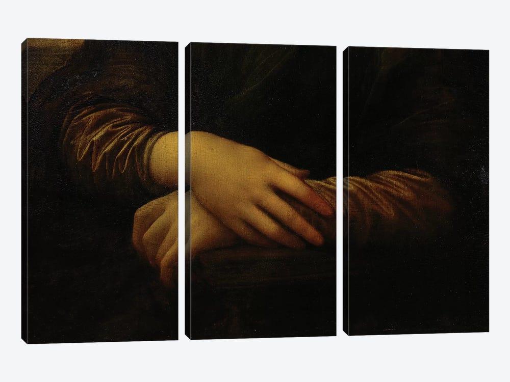 Mona Lisa, detail of her hands, c.1503-06  by Leonardo da Vinci 3-piece Art Print
