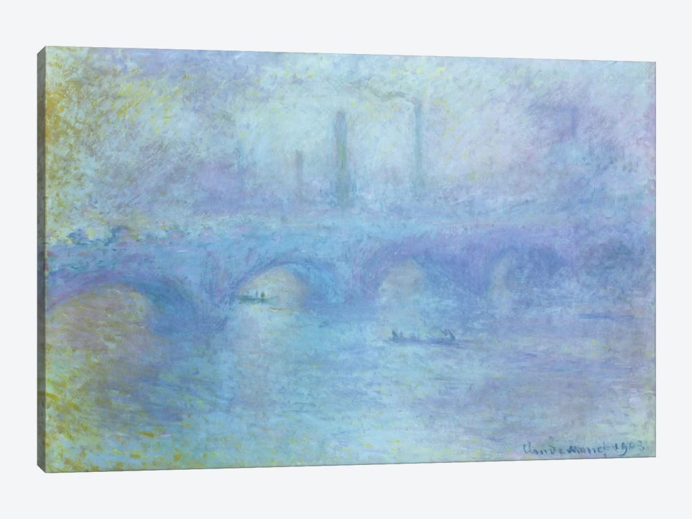 Waterloo Bridge, Effect of Fog, 1903 by Claude Monet 1-piece Canvas Artwork