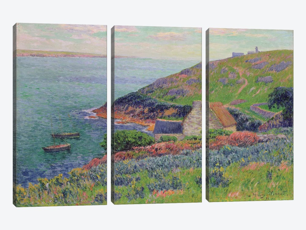 Port Manech, 1896  by Henry Moret 3-piece Canvas Artwork