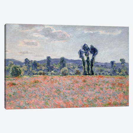 Poppy Field, 1887  Canvas Print #BMN2460} by Claude Monet Canvas Artwork
