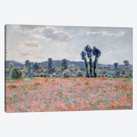 Poppy Field, 1887  Canvas Print #BMN2460} by Claude Monet Canvas Artwork
