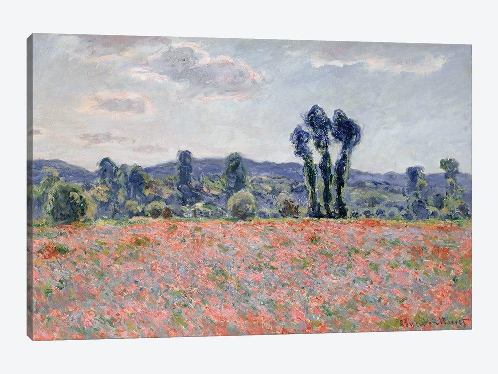 Poppy Field, 1887  by Claude Monet 1-piece Canvas Wall Art