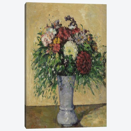 Bouquet of Flowers in a Vase, c.1877  Canvas Print #BMN2461} by Paul Cezanne Canvas Wall Art
