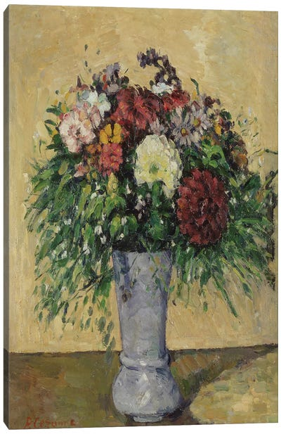 Bouquet of Flowers in a Vase, c.1877  Canvas Art Print