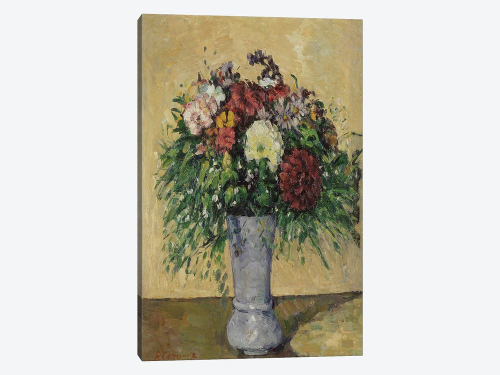 Bouquet of Flowers in a Vase, c.1877  by Paul Cezanne 1-piece Canvas Art Print