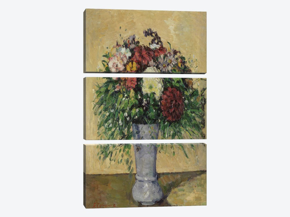 Bouquet of Flowers in a Vase, c.1877  by Paul Cezanne 3-piece Canvas Art Print