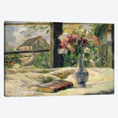 Vase of Flowers  Canvas Print #BMN2462} by Paul Gauguin Canvas Art