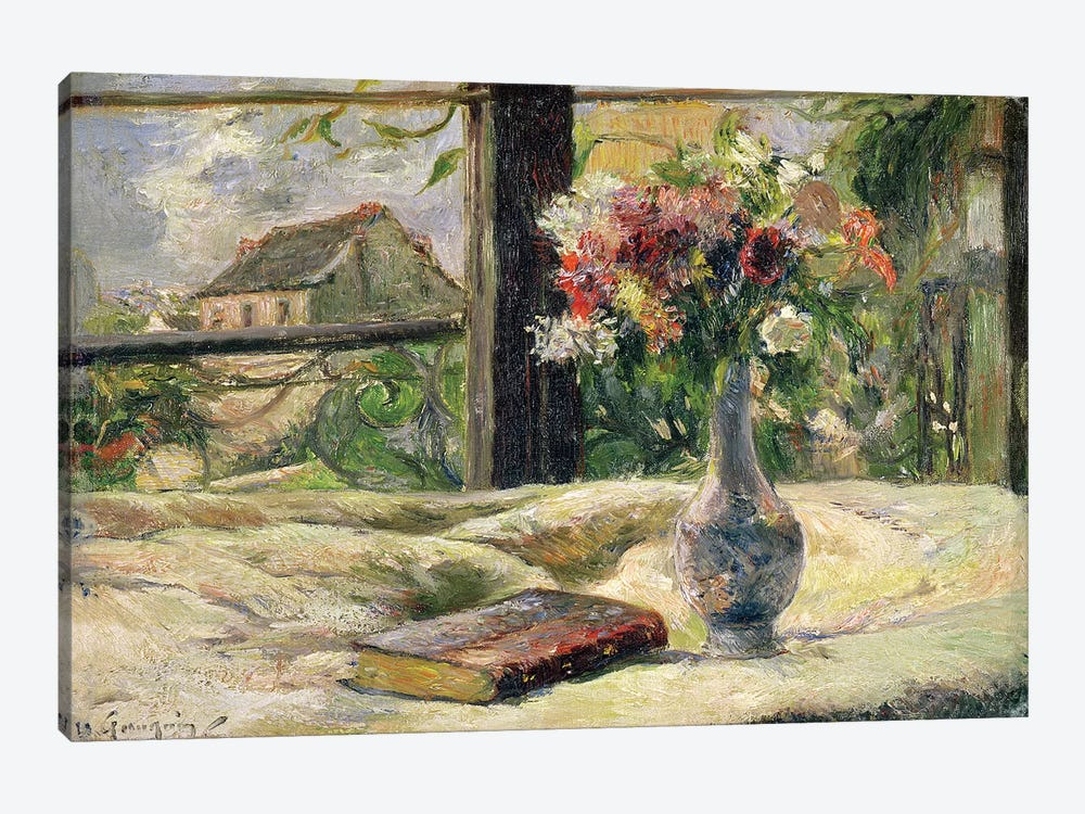 Vase of Flowers  by Paul Gauguin 1-piece Canvas Wall Art