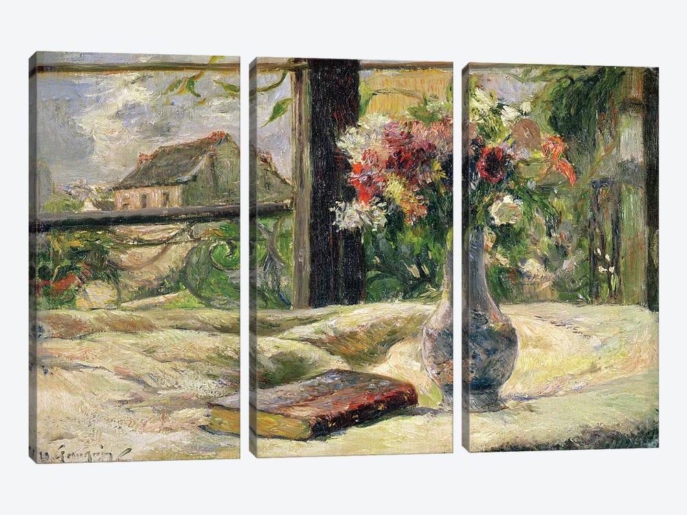 Vase of Flowers  by Paul Gauguin 3-piece Canvas Art