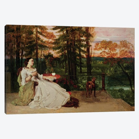 Woman of Frankfurt, 1858  Canvas Print #BMN2466} by Gustave Courbet Art Print