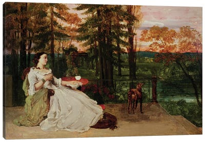 Woman of Frankfurt, 1858  Canvas Art Print