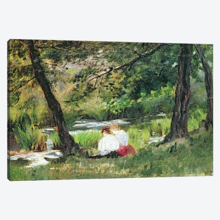 Two Seated Women  Canvas Print #BMN2468} by Mary Stevenson Cassatt Canvas Artwork