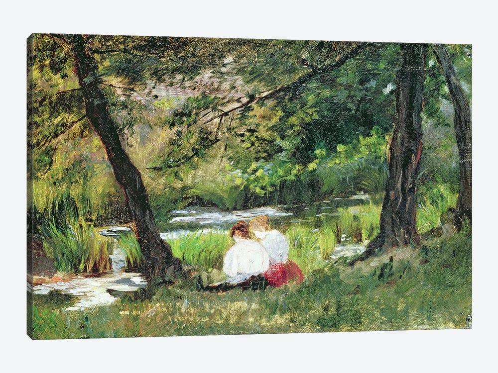 Two Seated Women  by Mary Stevenson Cassatt 1-piece Canvas Wall Art