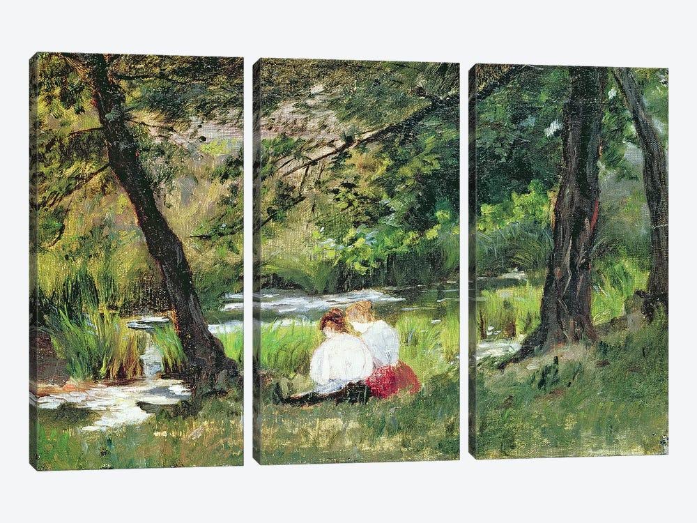 Two Seated Women  by Mary Stevenson Cassatt 3-piece Canvas Artwork