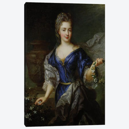 Marie-Anne de Bourbon  Canvas Print #BMN2469} by Nicolas de Largillière Canvas Wall Art
