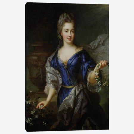Marie-Anne de Bourbon  Canvas Print #BMN2469} by Nicolas de Largillière Canvas Wall Art