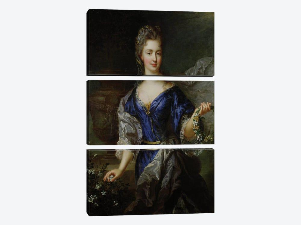 Marie-Anne de Bourbon  by Nicolas de Largillière 3-piece Canvas Print