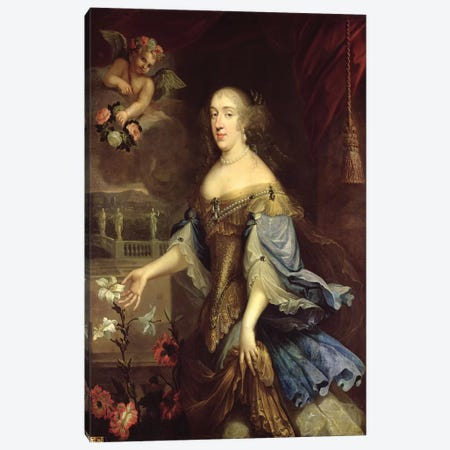 Anne-Marie-Louise d'Orleans  Canvas Print #BMN2470} by Pierre Mignard Canvas Print