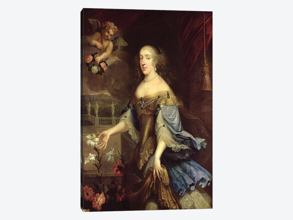Anne-Marie-Louise d'Orleans  by Pierre Mignard 1-piece Canvas Print