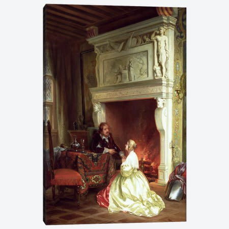Figures in an Interior  Canvas Print #BMN2472} by Ary Johannes Lamme Canvas Art Print