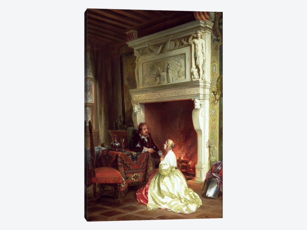 Figures in an Interior  by Ary Johannes Lamme 1-piece Art Print