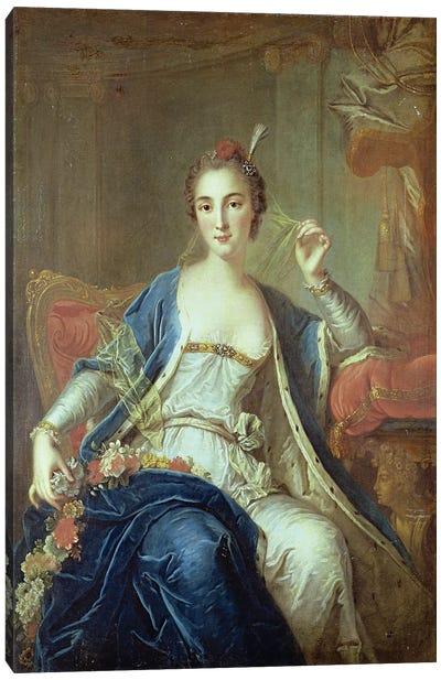 Portrait of Mademoiselle Marie Salle  Canvas Art Print