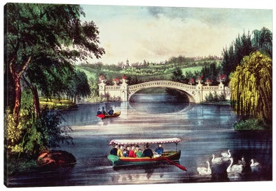 Central Park - The Bridge  Canvas Art Print