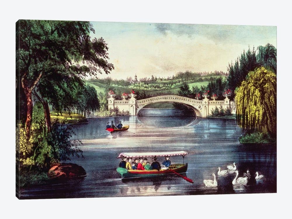Central Park - The Bridge  by N. Currier 1-piece Art Print