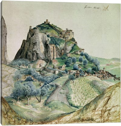 View of the Arco Valley in the Tyrol, 1495  Canvas Art Print