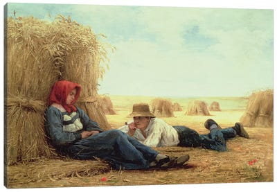 Harvest Time, 1878  Canvas Art Print
