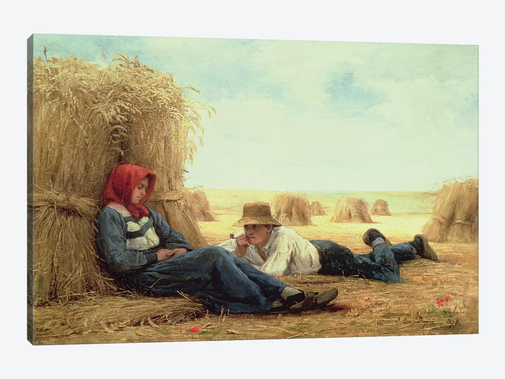 Harvest Time, 1878  by Julien Dupre 1-piece Canvas Print