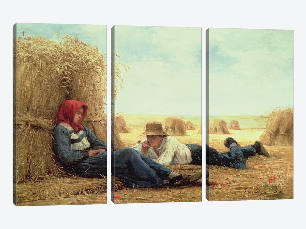 Harvest Time, 1878  by Julien Dupre 3-piece Canvas Art Print