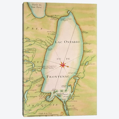 Map of Lake Ontario  Canvas Print #BMN2488} by French School Canvas Art