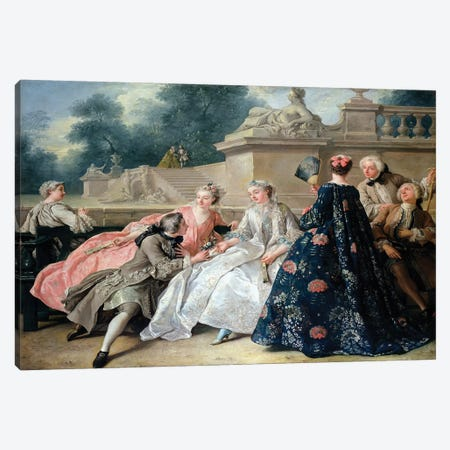Declaration of Love, 1731  Canvas Print #BMN2490} by Jean Francois de Troy Canvas Print