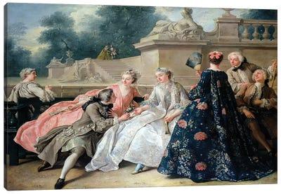 Declaration of Love, 1731  Canvas Art Print