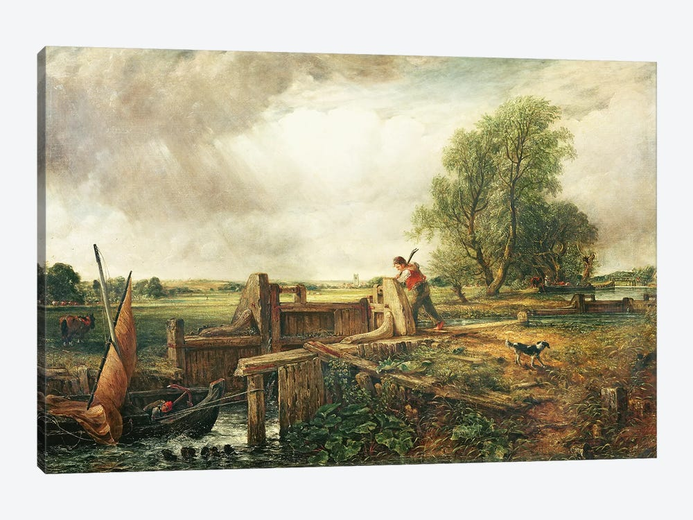 A Boat Passing a Lock  by John Constable 1-piece Canvas Wall Art