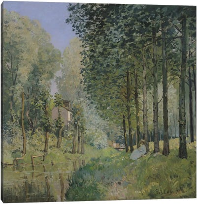 The Rest by the Stream. Edge of the Wood, 1872 Canvas Art Print