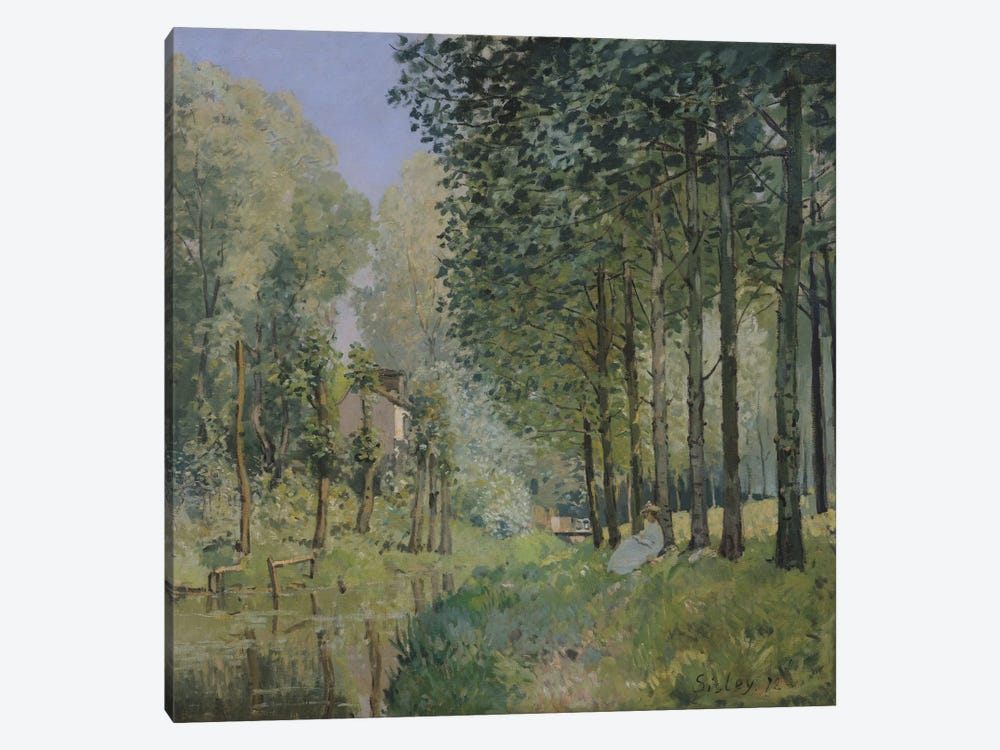 The Rest by the Stream. Edge of the Wood, 1872  by Alfred Sisley 1-piece Canvas Art