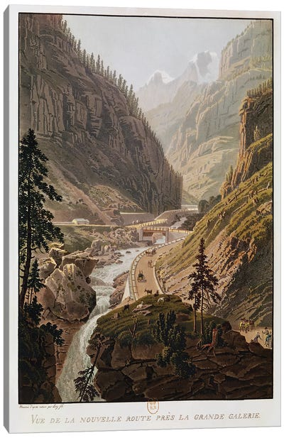 View of the New Simplon Pass, 1811  Canvas Art Print