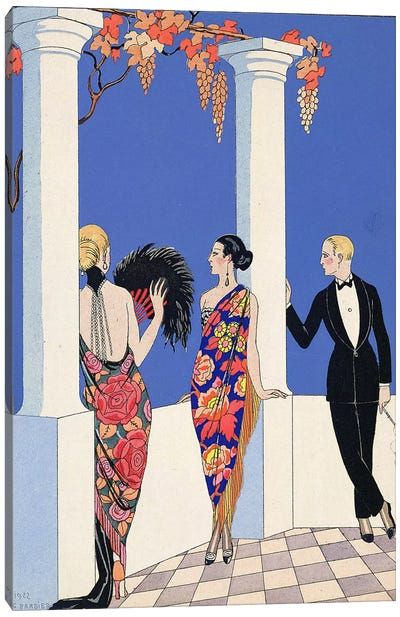 The Taste of Shawls, 1922 (pochoir print) Canvas Art Print