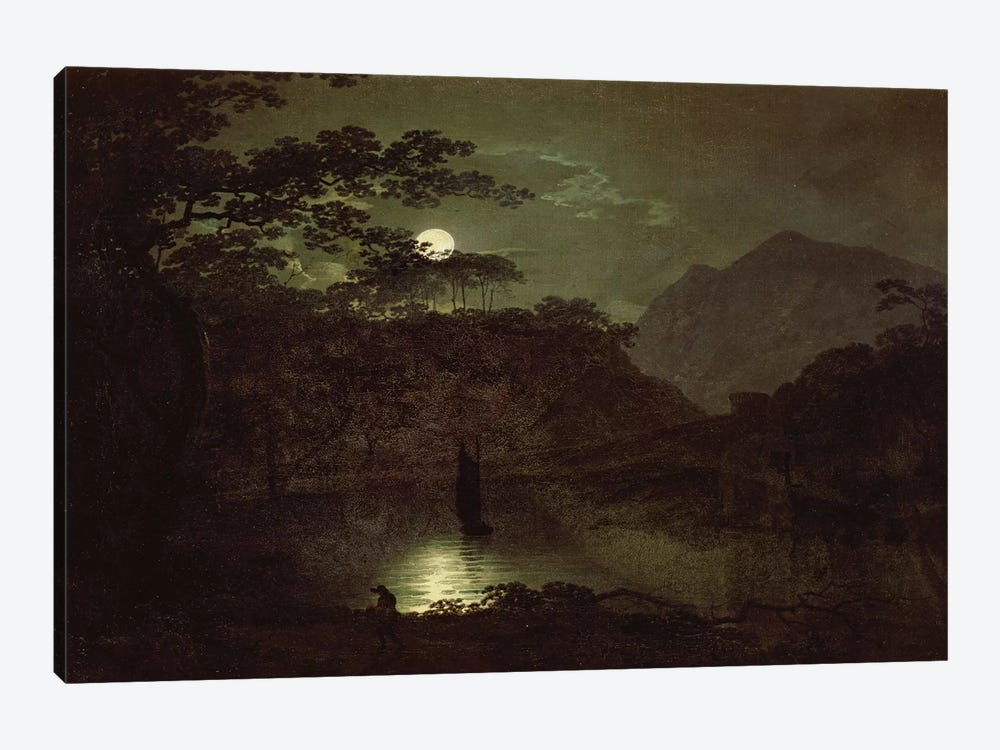 A Lake by Moonlight, c.1780-82  by Joseph Wright of Derby 1-piece Art Print