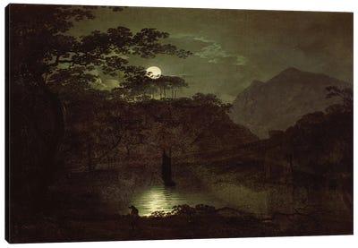 A Lake by Moonlight, c.1780-82  Canvas Art Print