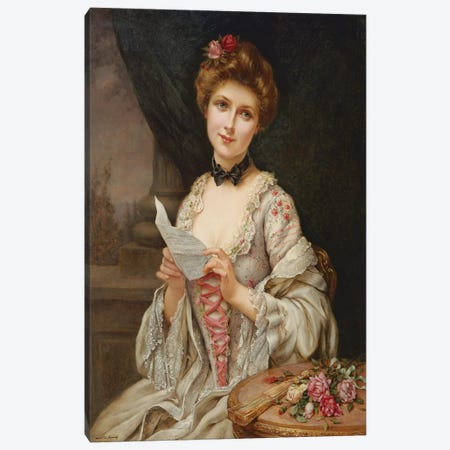 The Love Letter  Canvas Print #BMN2509} by Francois Martin-Kavel Art Print