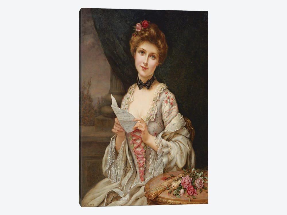 The Love Letter  by Francois Martin-Kavel 1-piece Canvas Wall Art