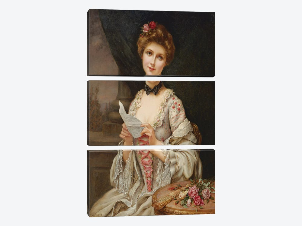 The Love Letter  by Francois Martin-Kavel 3-piece Canvas Wall Art