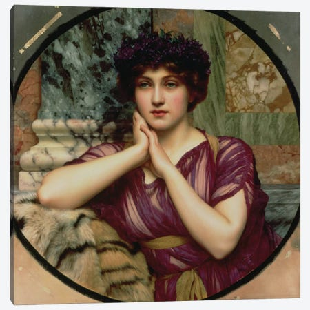 A Classical Beauty, 1901  Canvas Print #BMN2513} by John William Godward Canvas Wall Art