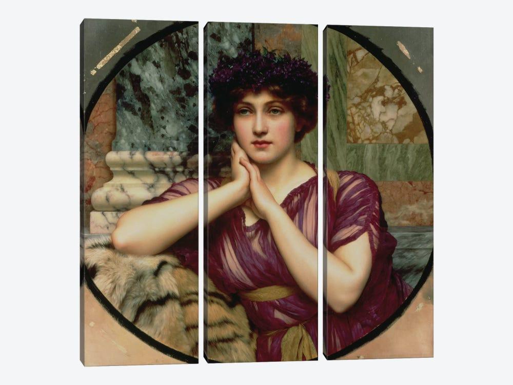 A Classical Beauty, 1901  by John William Godward 3-piece Art Print