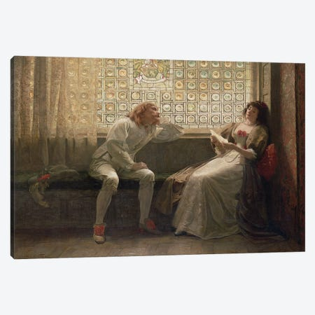 And Then, The Lover Sighing Like Furnace... (Illustration From Shakespeare's As You Like It), 1883 3-Piece Canvas #BMN2514} by Charles C. Seton Canvas Print